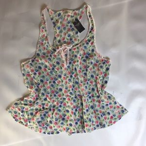 Abercrombie & Fitch Top Size L Tank Summer Floral